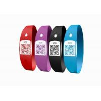 Wholesale Latex Free Custom Silicone Bracelets / SOS Medical ID Bracelet With Unique QR Code from china suppliers