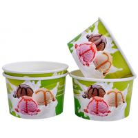 Wholesale Single Wall Frozen Yogurt Paper Cups , Paper Ice Cream Pint Containers from china suppliers