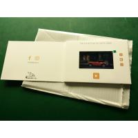 Buy cheap Hd Screen Lcd Video Booklet With Smart Button , Matte Lamination Color Cover from Wholesalers