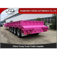 Buy cheap Mechanical Suspension 4 Axles 13 Meter Low Bed Trailer for Africa from wholesalers