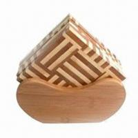 Wholesale Cork Coaster, Made of Bamboo from china suppliers