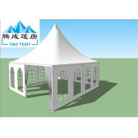China High Capacity Light Weight Aluminum Frame Waterproof Canopy Tent For Party With White And Glass Windows on sale