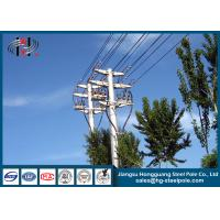 Wholesale Distribution Line Q235 Electric Power Poles Steel Tubular Pole With Two Circult from china suppliers