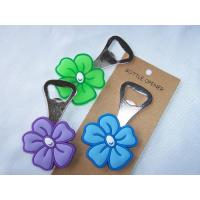 Wholesale Soft PVC Bottle Opener with Flower from china suppliers