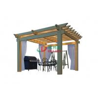 4m X 4m Double Layers Pergola Kits With Roof , Waterproof Outdoor Pergola Kits
