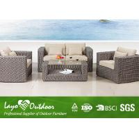 Water - Repellent Patio Outdoor Furniture 1+ 2 + 1 Rattan Sofa Set With Pillow