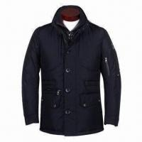 Wholesale Men's 90% Down Jacket, Made of Nylon Oxford Fabric Hood Inside Collar from china suppliers