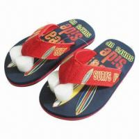 Wholesale 2013 Hot Selling Kids' Beach Sandals, Fabric Upper and EVA Outsole, Available in Various Colors from china suppliers