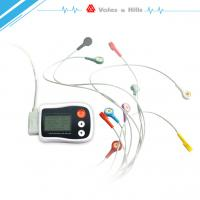 Wholesale Portable Holter ECG black Recorder With LCD , Holter Heart Monitor FDA Approved from china suppliers