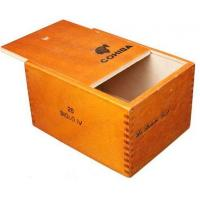 China wooden cigar boxes 25pcs cigarette packaging plain type on sale