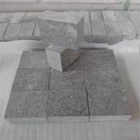 Wholesale China Granite Dark Grey G654 Granite Cube Stone G654 Pavers Flamed Surface 10x10x5cm from china suppliers