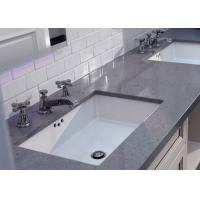 China Square Sink Black White Quartz Bathroom Countertops High Hardness OEM/ODM on sale