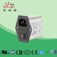 Wholesale Yanbixin Industrial Inline EMI Filter / Power Entry Filter Rated Voltage 110V from china suppliers