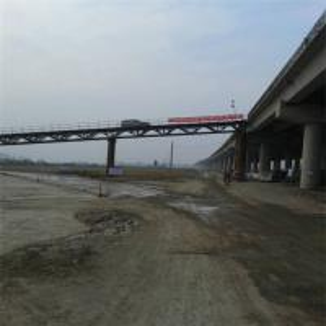 Buy cheap Surface Painted GB 450 Bailey Suspension Bridge , Modular Temporary Steel Bridge from wholesalers