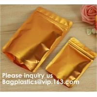 China Semi-Clear Window Hang-Hole Stand-Up Ziplock Pouch,Aluminum Packaging Bags Laser Ziplock Stand up Resealable Pouches wit on sale