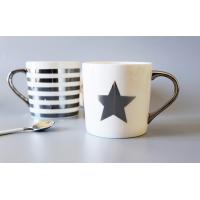 Wholesale Silver Gold Custom Coffee Mugs / Couples Printing Personalized Coffee Mugs from china suppliers