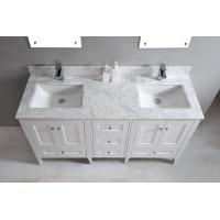 Wholesale Nature White Marble Bathroom Countertops , Marble Island Countertop With Oval Sink from china suppliers