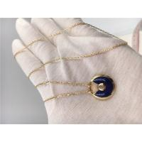 Buy cheap Dark Blue Lapis Lazuli Cartier Jewelry 18K Real Gold Chains With Pendants from wholesalers