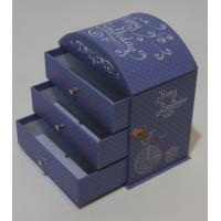 Buy cheap Round top desk paper-cardboard box with 3 drawers from Wholesalers