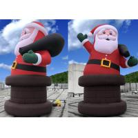 China Big Festival Inflatable Christmas Decorations Door Weather - Resistant on sale