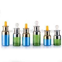 New Design 20ml,30ml,50ml Color Painting Essence Glass Bottles With Droppers