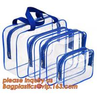 Wholesale waterproof hanging toiletry bag for travel, Vinyl Transparent PVC Cosmetic Bag /Clear Toiletry Bag/PVC Travel Makeup Bag from china suppliers