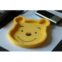 Wholesale Durable Plastic Coin Tray Customised Winnie Pooh Shape PVC Coin Tray from china suppliers