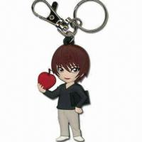 Wholesale Handsome Boy Shaped Keychain, Measures 6.5 x 3.7 x 0.5cm, Made of Soft PVC from china suppliers