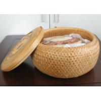 2016 Hot sale Bamboo Basket, gift packing basket, bamboo storage basket with middle diameter 15cm, height 10cm