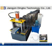 Wholesale 0.5-1.0mm Color Steel Half Rain Gutter Roll Forming Machine For Structure Building from china suppliers