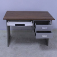 China MDF Grey 750mm Wooden Computer Desk With Keyboard Tray on sale