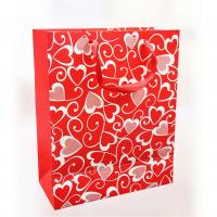 Wholesale 150gsm Craft Paper Gift Bags , Offset Printing For Valentine's Day 12.5 X 6 X 17cm from china suppliers