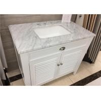 "Wholesale 22"" X 37"" Carrera Marble Bathroom Countertops High Polish With Rectangle Cutout from china suppliers"