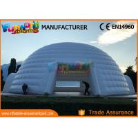 China 14m Diameter Clear Dome Inflatable Party Tent With Transparent Windows on sale