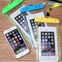Wholesale IPX8 Water-Resistant Phone Dry Bag Waterproof Phone Pouch with Fluorescent Frame for Outdoor Water Activities from china suppliers