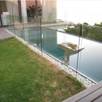 Wholesale glass pool fence, u channel glass railing, frameless glass railing from china suppliers