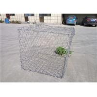 China Silver Color Decorative Gabion Baskets / Galvanised Steel Stone Cage on sale
