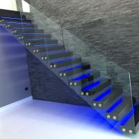Wholesale modern glass folding stairs / build floating staircase from china suppliers