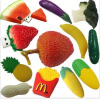Wholesale customized Fruit and food design USB Flashdrives,2-32GB Soft PVC fruit shaped usb flash drive gift from china suppliers