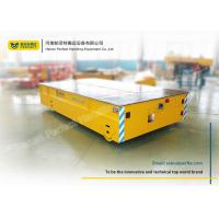 Wholesale 30 Ton Yellow Electric Trailer Trolley / Rail Transfer Cart Storage Battery from china suppliers