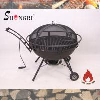 Wholesale outdoor firepit BBQ grill on wheels from china suppliers