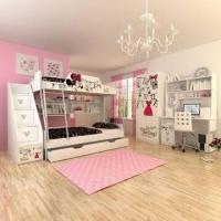 Wholesale E0 Grade Kids' Bunk Bed Furniture, Children's Furniture, Home Product, Ladder Chest, Disney, Minnie from china suppliers