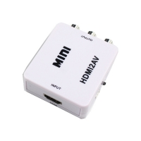Wholesale White/Black Plastic Cover MiNi HDMI To RCA Converter from china suppliers