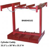 China Steel Compressed Gas Cylinder Stands , Gas Tank Storage Rack 7 To 9.5 Diameter on sale