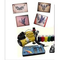Wholesale 220-240v, 50Hz Body Art Glitter Temporary Tattoo Kit with Mini Air Compressor from china suppliers