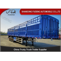 Buy cheap Livestock Transport 50T Dropside Cargo Semi Trailer from wholesalers