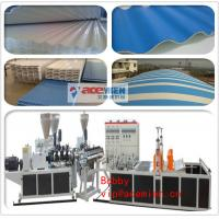 Wholesale Corrugated Plastic Roof Making Machine / PVC Tile Roll Forming Machine with 0.8mm - 3mm Thickness from china suppliers