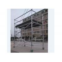 Wholesale Customized Single Width Aluminum fast-installation Scaffolding with Casters from china suppliers