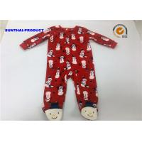 Wholesale Snowman Print Applique Baby Pram Suit Red Color Long Sleeve Over Tab Coverall from china suppliers