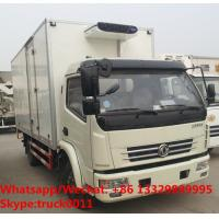 Wholesale wholesale good price dongfeng 4*2 RHD 6tons 120hp refrigerated truck with CARRIER reefer for fresh fruits and vegetables from china suppliers